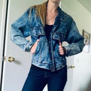 -Vintage- Jack Mulqueen 80's acid denim jacket